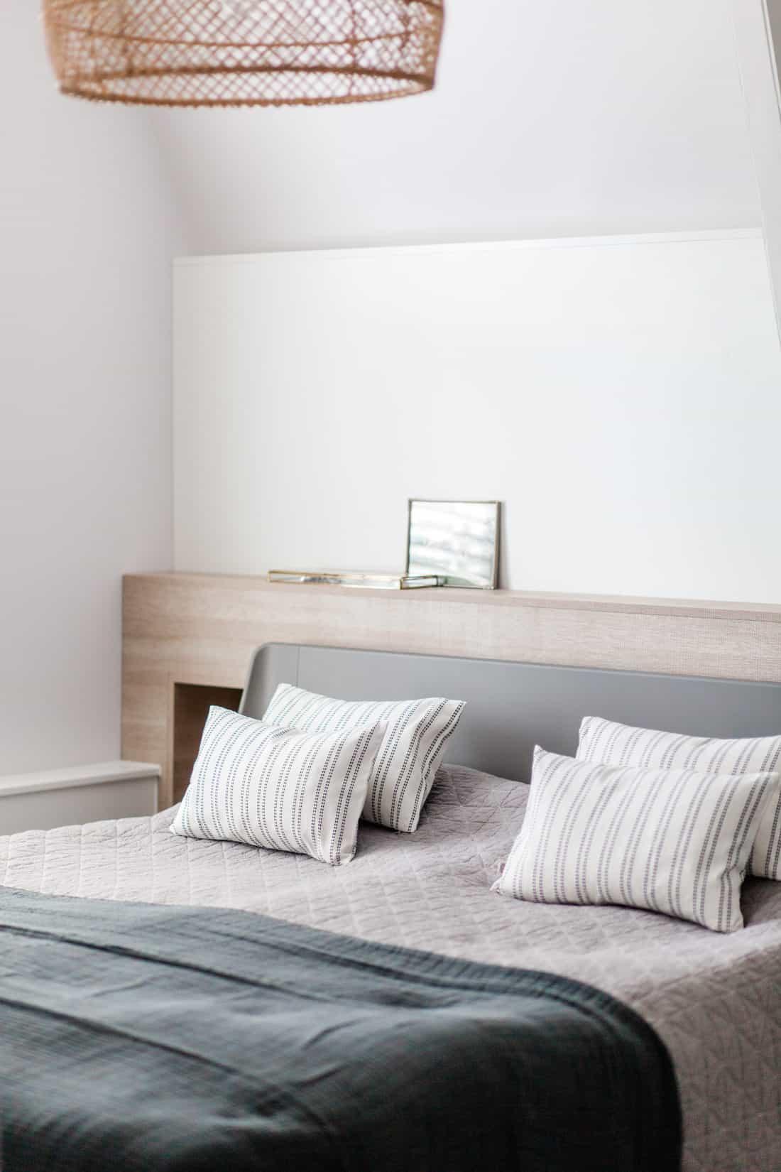 Interieurontwerp bovenverdieping jaren dertig woning slaapkamer