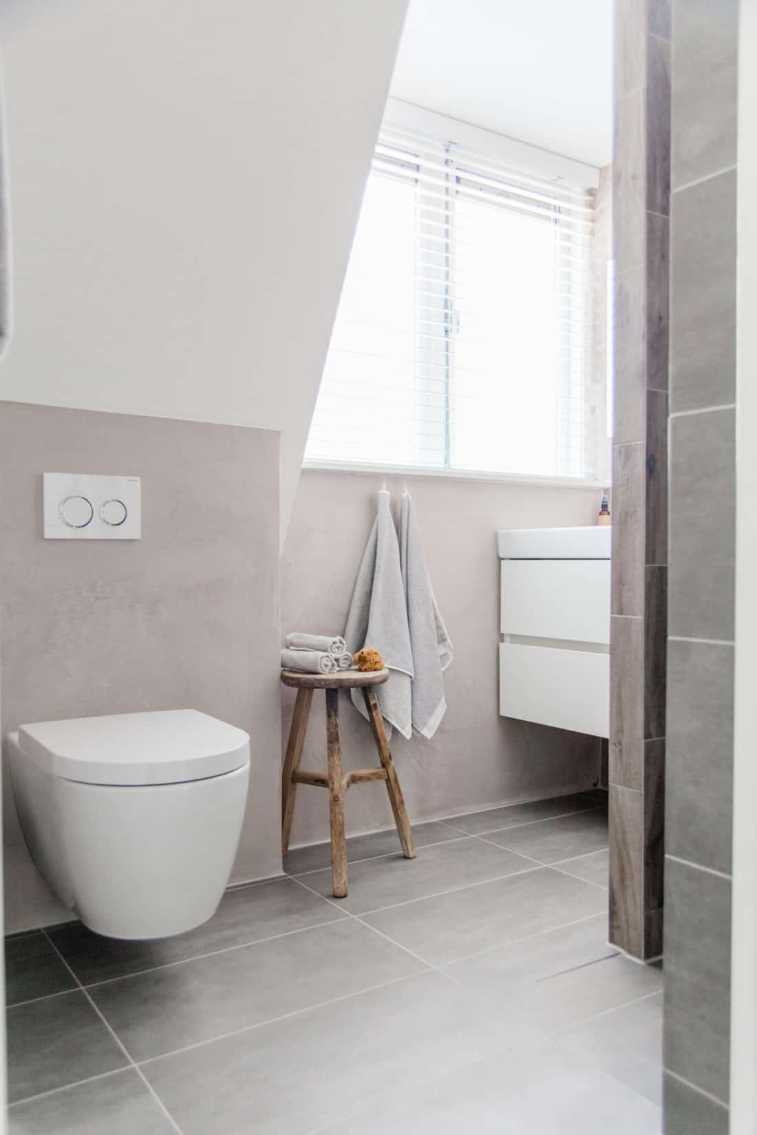Interieurontwerp bovenverdieping jaren dertig woning badkamer