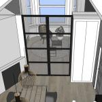 interieurontwerp verbouwing woonkamer tekening