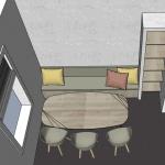 3d tekening interieurontwerp verbouwing