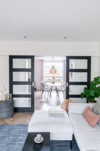 Interieurontwerp jaren vijftig woning woonkamer